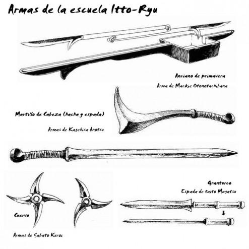 Armas de Itto Ryu